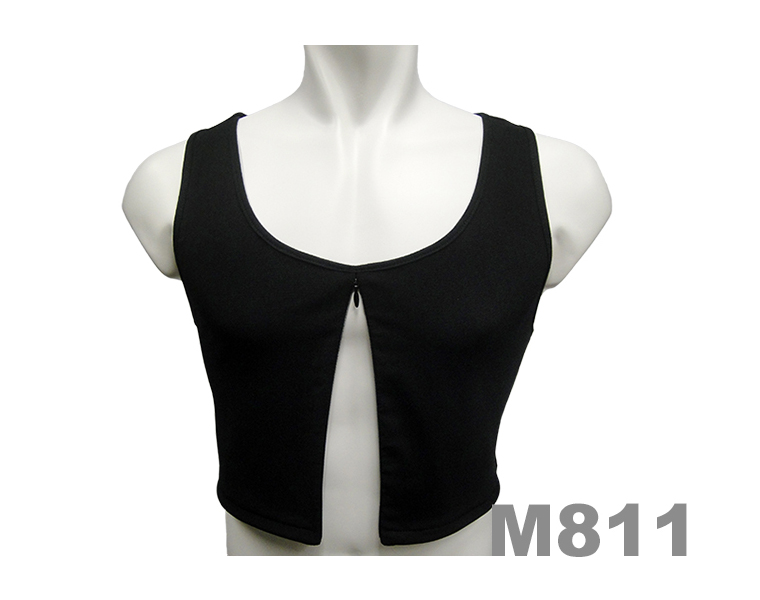model 811 invisible zipper half length style breast binder